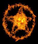 Pentagramme en feu