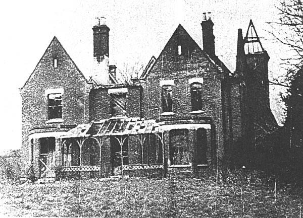 Presbytère de Borley après son incendie