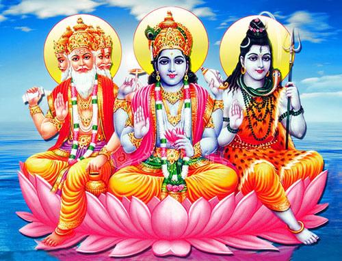 Brahma, Vishnu et Shiva