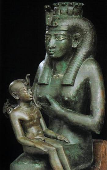 Isis donnant le sein à Horus