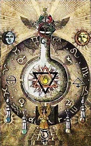 Illustration de l'alchimie