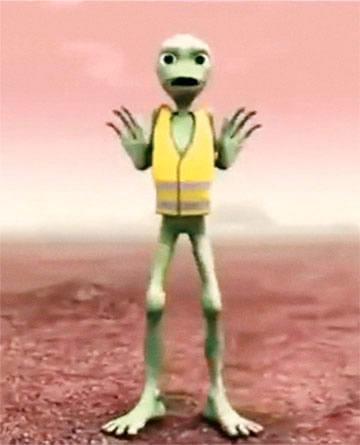 Alien en gilet jaune