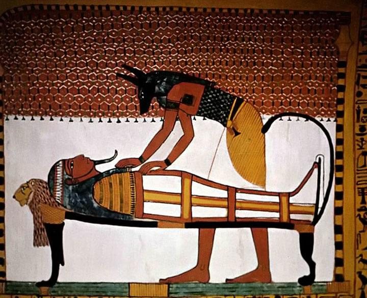 Anubis dieu funéraire