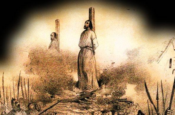 Les Templiers sur le bûcher