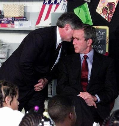 Bush dans la salle de classe