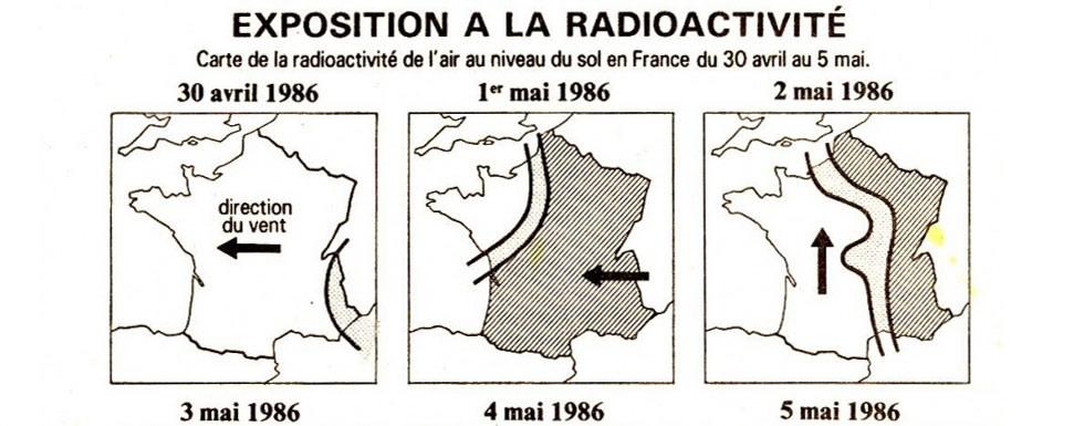 Carte exposition à la radioactivité