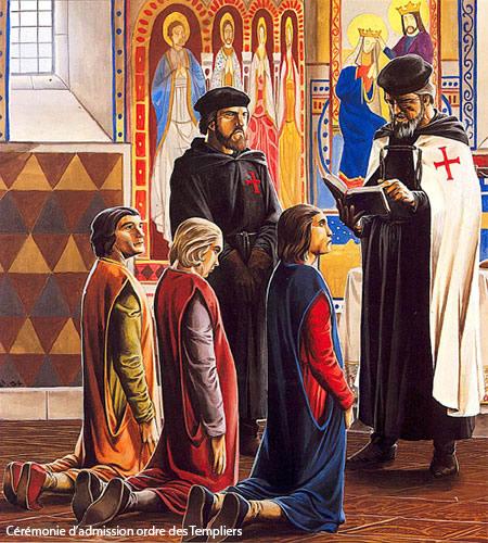 Cérémonie d'admission à l'Ordre des Templiers