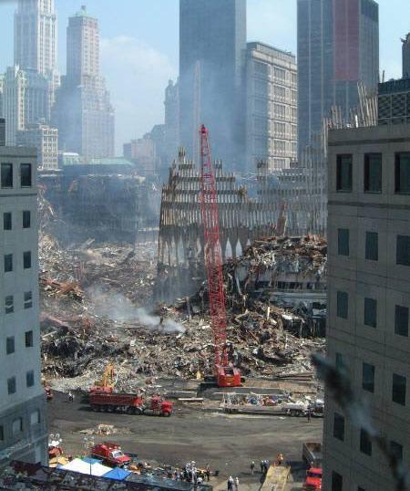 Déblaiement des décombres du WTC