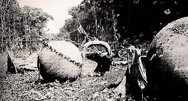 Déblaiement en Costa Rica dans les années 40