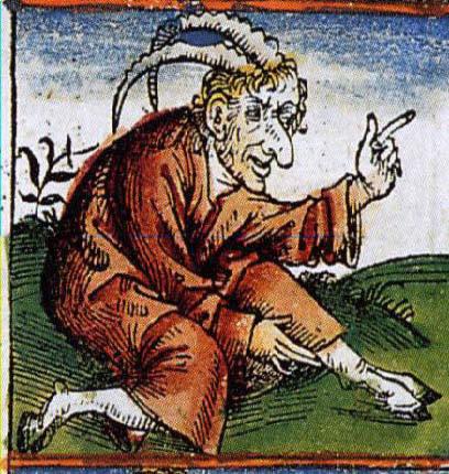 Démon avec cornes et pieds de bouc