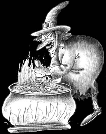 Représentation d'une sorcière