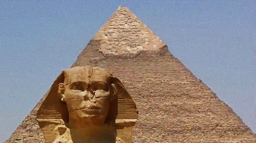 Sphinx et pyramide de l'Egypte Antique