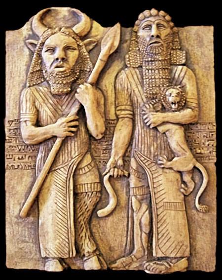 Enkidu et Gilgamesh