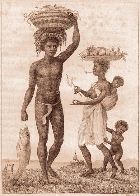 Famille d'esclaves marrons