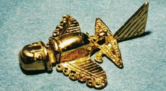 figurine en or