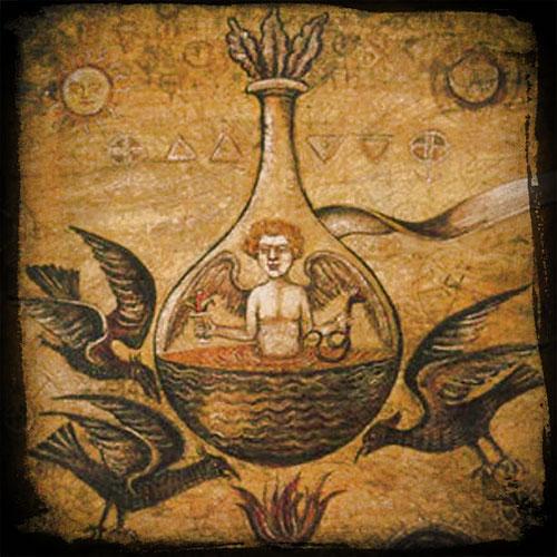Humunculus dans un vase - Expérience d'alchimie