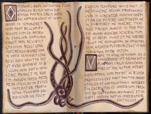 Illustration traduction grecque du Necronomicon