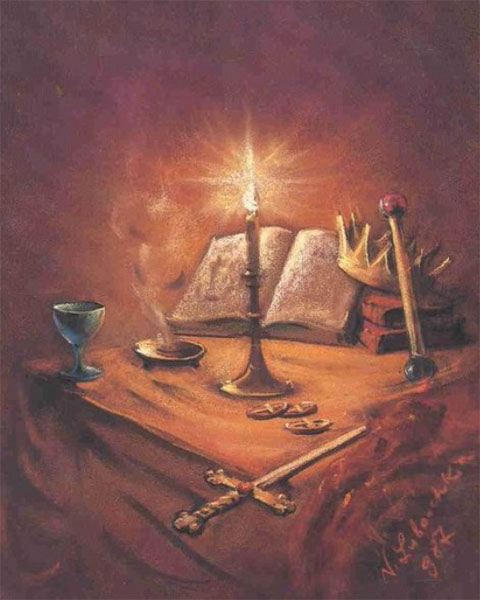 Les instruments pour un rituel magique