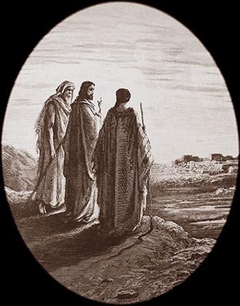Jésus sur la route d'Emmaüs
