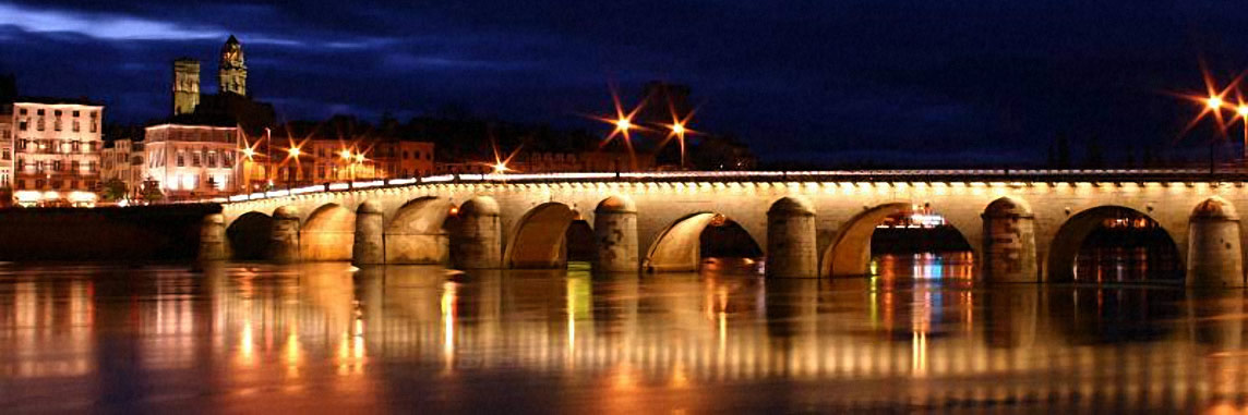 Le Pont de Saint-Laurent à Mâcon