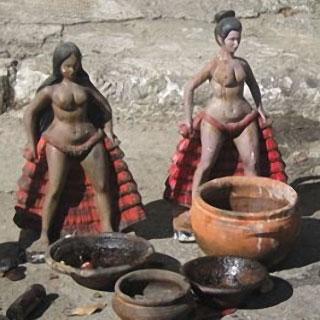 Offrandes du culte Macumba au Brésil