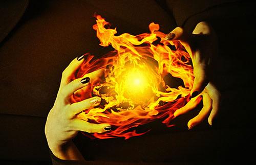 La magie élémentale du feu