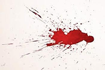 Sang sur les murs