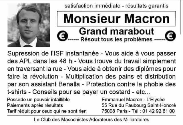 Marabout Macron