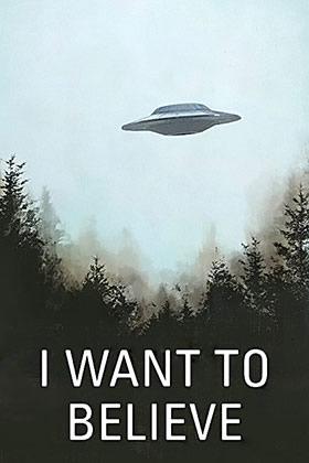 Poster de X-Files soucoupe volante