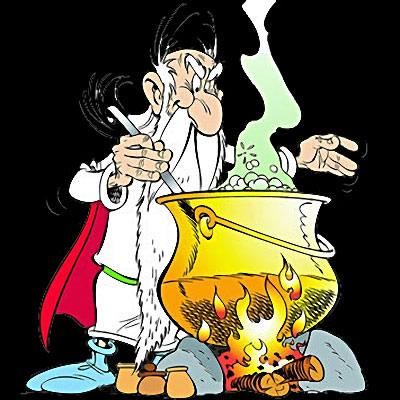 *Panoramix prépare sa potion magique