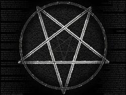 Pentacle en forme de pentagramme