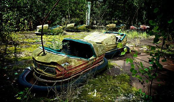 Reste d'une fête foraine à Tchernobyl