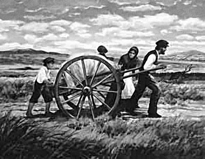 Charrette de pionniers mormons
