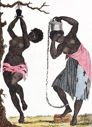 Punition de deux femmes esclaves