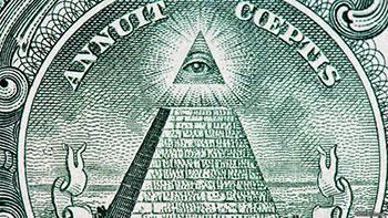 L'oeil de la pyramide sur un billet de un dollar