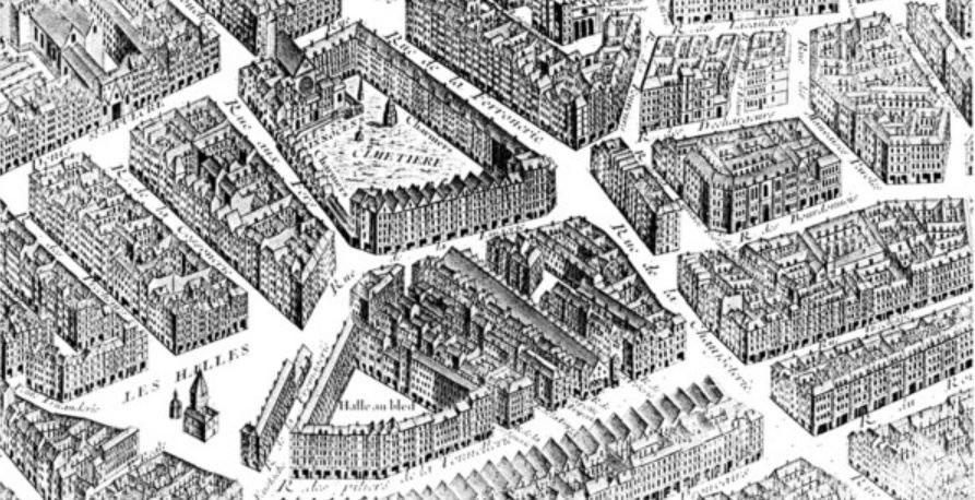 Carte historique Quartier des Halles