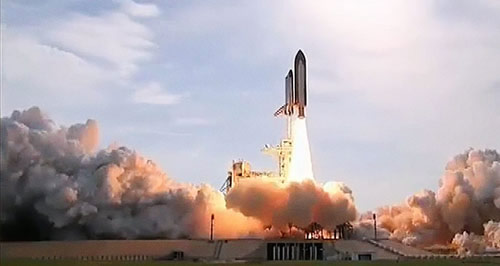 Rampe de lancement de fusées