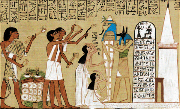 Scène du Livre des Morts - Papyrus de Hounefer 1280 ans avant JC