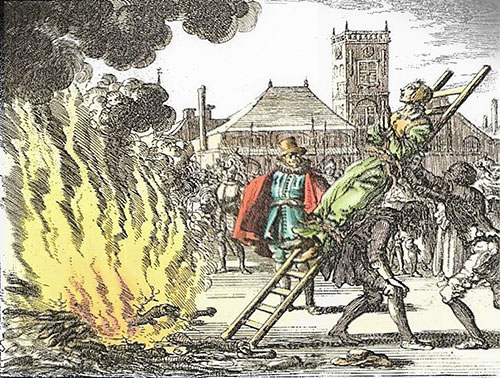 Anne Hendrinks conduite au bûcher à Amsterdam 1571