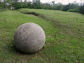 Zones de fouille des sphères du Costa Rica