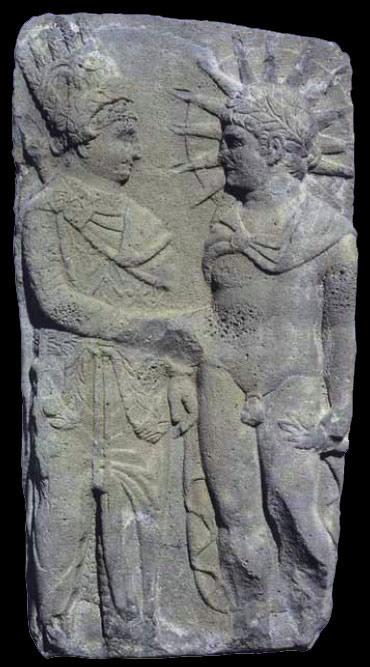 Stèle d'antochius et Helios