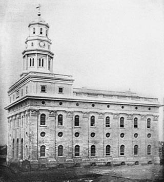 Temple de Nauvoo vers 1840