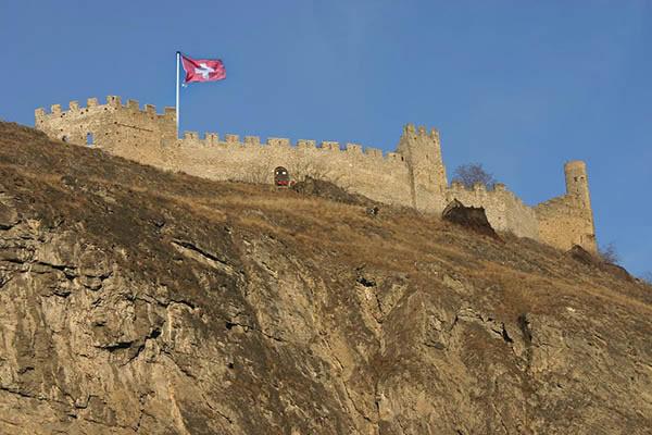 Château du Tourbillon dans le Valais