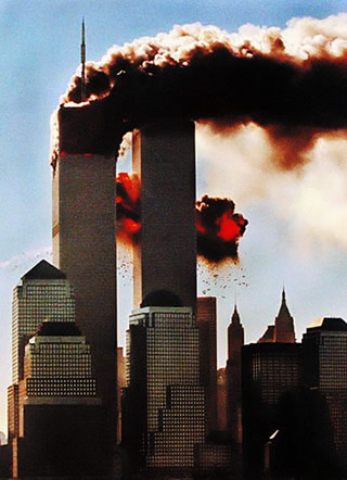 Les Twin Towers en flamme