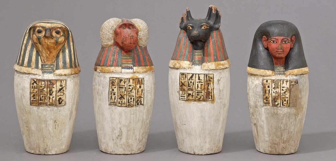 Vases canopes de Padiouf - Musée du Louvre