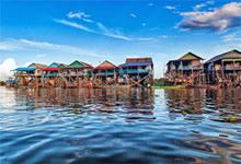 Le lac Tonlé Sap au Cambodge